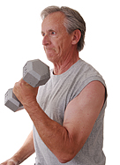 Seniors benefit from weight training.